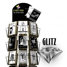 Glitz hele serie incl. display, topkaart, backcards