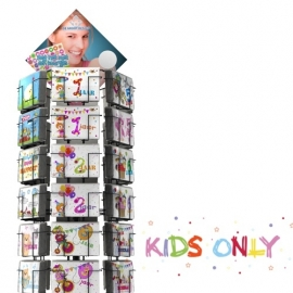 Kids Only hele serie incl. display, topkaart, backcards