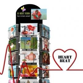 Heart Beat Fries hele serie incl. display, topkaart, backcards