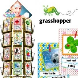 Grasshopper 11x17cm hele serie incl. display, topkaart, backcards