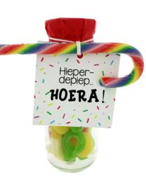 103 snoepflesje kinderen Hieperdepiep Hoera!