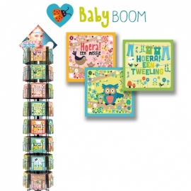 Baby Boom 12x13,5 cm hele serie incl. display, topkaart, backcards