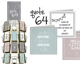 Quote 15x15cm hele serie incl. display, topkaart, backcards