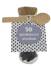 Snoepflesje 137  50 gefeliciteerd Abraham v.e 3