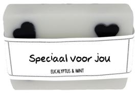 108 luxe zeep met hartjes 6x8 cm Eucalyptus & Mint Speciaal voor jou v.e 3