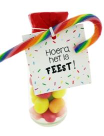 101 snoepflesje kinderen Hoera het is feest!