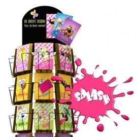 Splash hele serie incl. display, topkaart, backcards