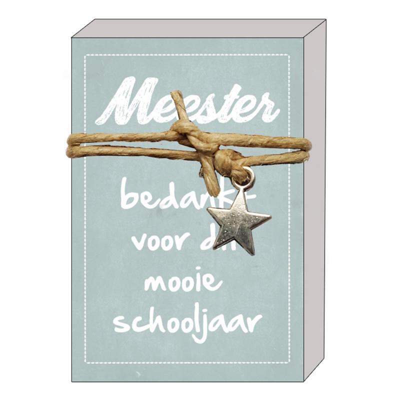 126 Doosje Quote64 - Meester, bedankt voor het mooie schooljaar v.e 3