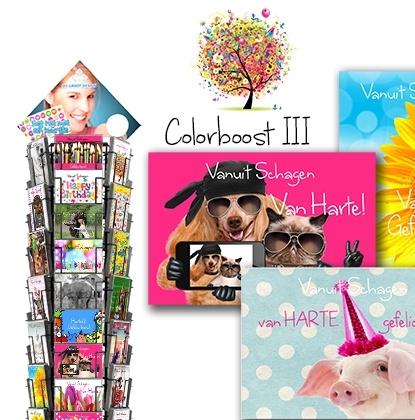 Colorboost III hele serie incl. display, topkaart, backcards