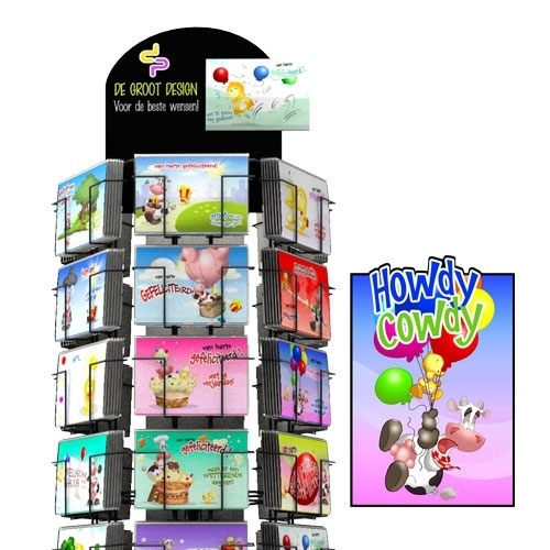Howdy Cowdy hele serie incl. display, topkaart, backcards
