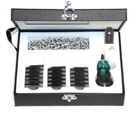 1x koffer messen Husqvarna maairobot (300x messen) 0.75mm incl. schroeven + schroevendraaier