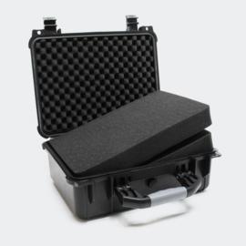 Universele opbergkoffer / hardcase large - zwart - 40.6x33x17.4cm