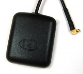 GPS antenne met magneetvoet en MMCX stekker 90 graden
