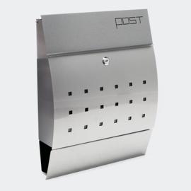 Moderne design brievenbus geborsteld edelstaal - 350 x 445 x 95mm