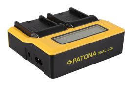 LCD duolader acculader snel lader voor Sony NP-FM500H Patona