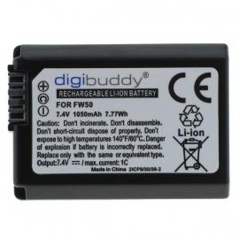 Accu voor Sony NP-FW50 / NPFW50 1050mAh Digibuddy Premium
