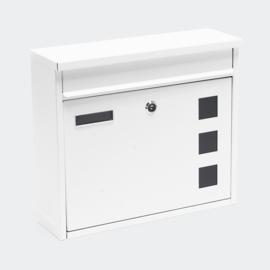 Design brievenbus wit - afsluitbaar /  36 x 32 x 11,5 cm