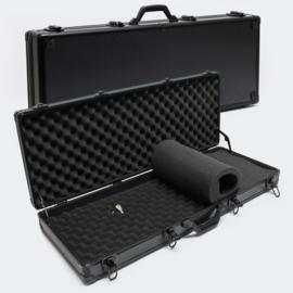 Wapenkoffer pistoolkoffer zwart / noppenfolie / 4 sloten - 840 x 345 x 117 mm