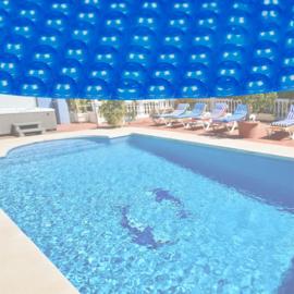 Zwembadfolie zonnefolie rond Ø 3,6m - blauw 140μ - extra dik