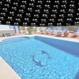 Zwembadfolie zonnefolie rond Ø 3,6m - zwart 140μ - extra dik