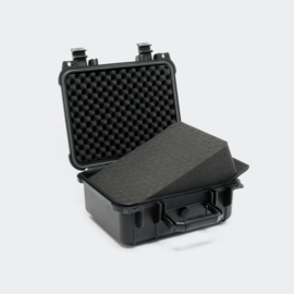 Universele opbergkoffer / hardcase small - zwart - 27x24.6x12.4cm