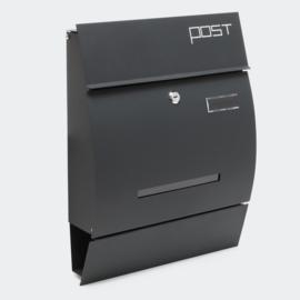 Moderne design brievenbus antraciet  - 350 x 445 x 95mm