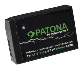 Accu voor Canon LP-E17 LPE17 950mAh Patona Premium series