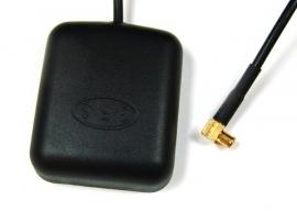 GPS antenne met magneetvoet en MCX stekker 90 graden