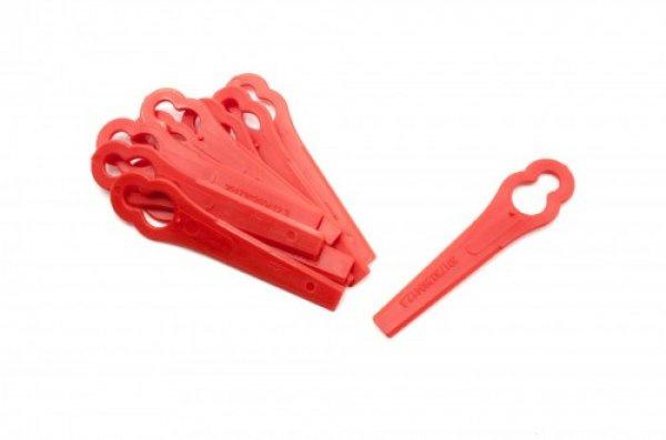 10x Messen kunststof voor Bosch ART 26 / 2600 rood