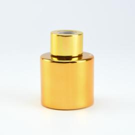 Parfumflesje Rond - Goud met Goudkleurige Dop - 50 ml