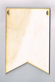 Houten Vlag van 10 * 15 cm - Populierenhout 4 mm