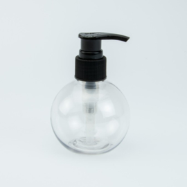 Ronde Zeeppomp - Transparant met zwarte pomp - 150 ml