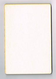 Houten Kaart van 10 * 15 cm - Populierenhout 4 mm