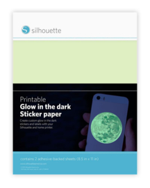 Printbaar Glow in the Dark Sticker Papier - 2 vellen