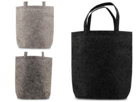Vilten Tote Bag - 42*42*12cm - in 3 kleuren leverbaar