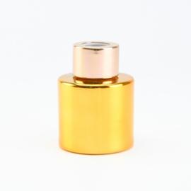 Parfumflesje Rond - Goud met Rosékleurige Dop - 50 ml
