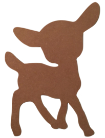 XL Hert Bambi - 4mm dik MDF Figuur - 50cm