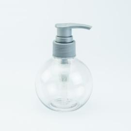 Ronde Zeeppomp - Transparant met zilverkleurige pomp - 150 ml