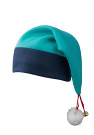 Kerstmuts Turquoise - Navy