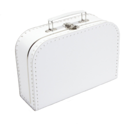 Wit Kartonnen Koffertje - Maat 25*18*9 cm