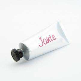 Zilverkleurige Tube Handcrème - met zwarte dop - 60 ml