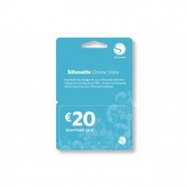 €20,- Downloadkaart voor de Silhouette Store (digitale code)