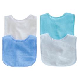 Slab in blauwe assorti kleuren - Set van 4 stuks