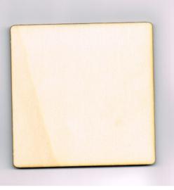 Houten Vierkant  van 15 * 15 cm - Populierenhout 4 mm