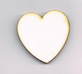 Houten Hartje  van 10 * 10 cm - Populierenhout 4 mm