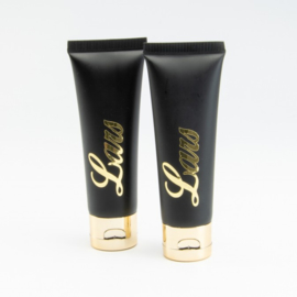 Handcrème tube - Zwart met Goudkleurige dop - 50 ml