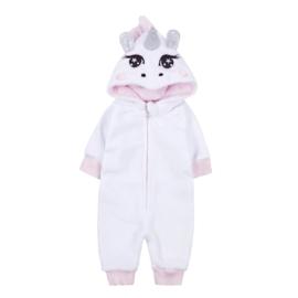Baby Onesie Unicorn | Wit met roze accenten