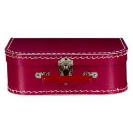 Bordeaux Vintage Kartonnen Koffertje - 25*17*8,5 cm - Normaal