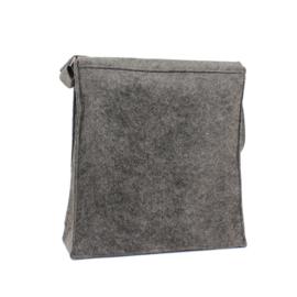 Vilten Schoudertas / Postman Bag - 33*35*12 cm - in 3 kleuren leverbaar