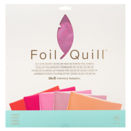 "We R Memory Keepers - Foil Quill Folie 12"" x 12"" - Flamingo"